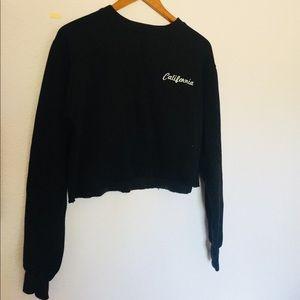 brandy melville california cropped hoodie